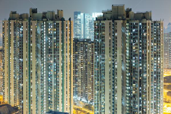 Hong Kong residenziale costruzione cielo luce home Foto d'archivio © leungchopan