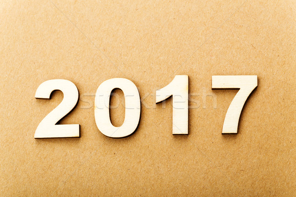 Wooden text for year 2017 Stock photo © leungchopan