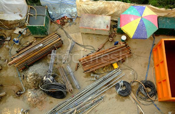 建設現場 市 壁 作業 金属 都市 ストックフォト © leungchopan
