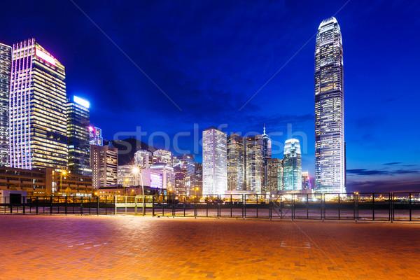 Central district in Hong Kong at night Stock photo © leungchopan