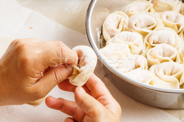 Homemade dumpling Stock photo © leungchopan