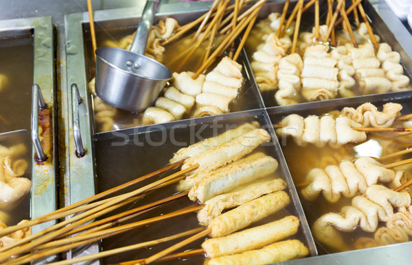 Korean local food, fish cake Stock photo © leungchopan