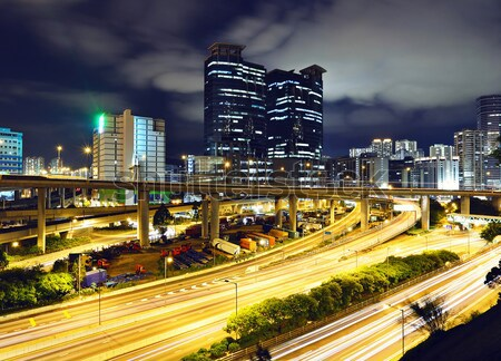 Bölge Seul araba Bina şehir manzara Stok fotoğraf © leungchopan