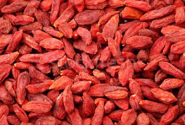 Dried wolfberry fruit close up Stock photo © leungchopan