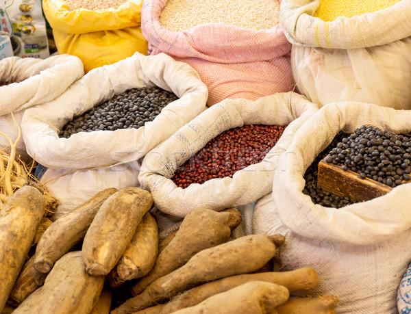 Food market stall Stock photo © leungchopan