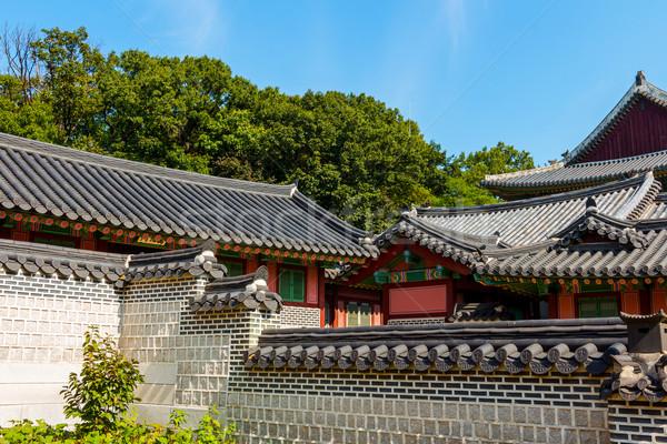Exterior of korean building Stock photo © leungchopan