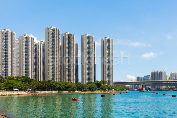 Residential district in Hong Kong Stock photo © leungchopan