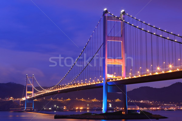Tsing Ma Bridge at Hongkong Stock photo © leungchopan