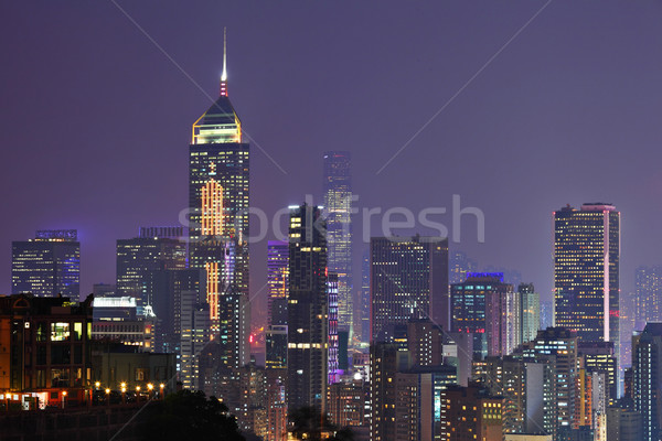 night view of Hong Kong Stock photo © leungchopan