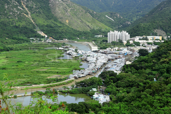 Tai O fishing village view from high Stock photo © leungchopan