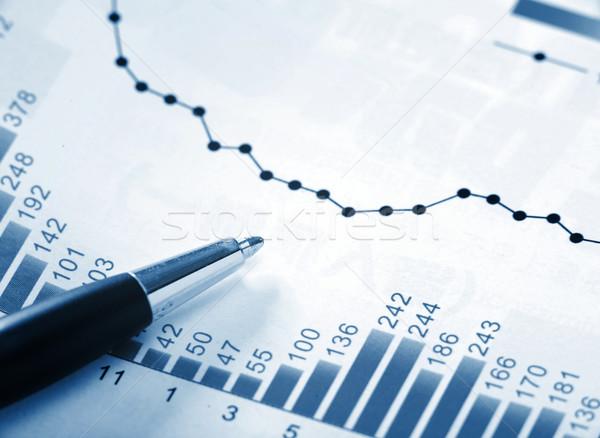 Financiële grafiek kantoor schrijven financieren kleur Stockfoto © leungchopan