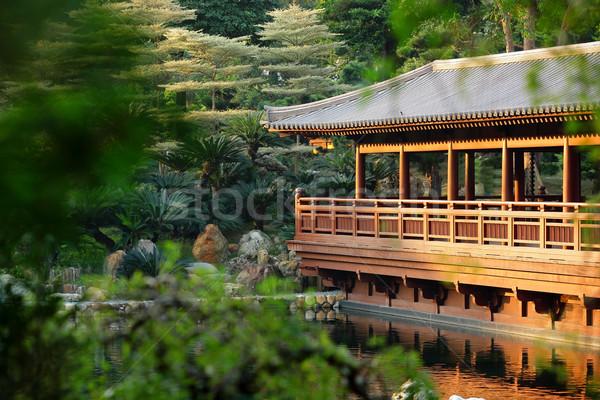 chinese building in garden Stock photo © leungchopan