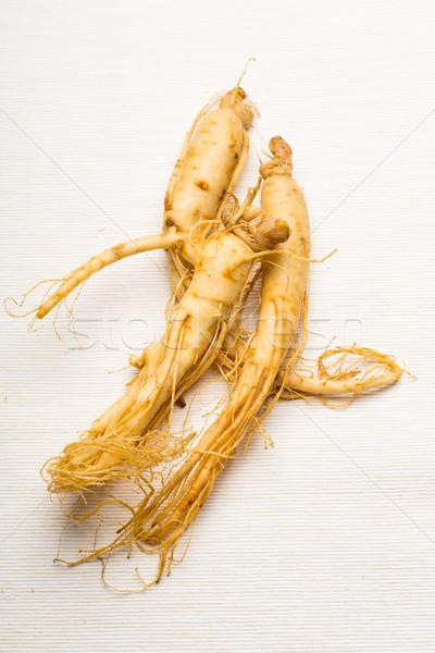 Fraîches ginseng blanche texture alimentaire Asie Photo stock © leungchopan