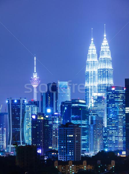 Kuala Lumpur şehir iş ofis Bina ışık Stok fotoğraf © leungchopan