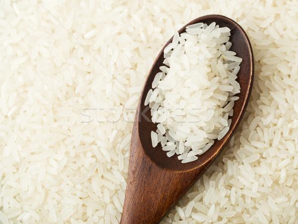 Fehér rizs kanál sötét ázsiai mezőgazdaság Stock fotó © leungchopan