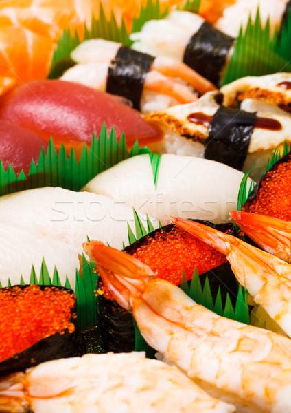 Assorted japanese sushi Stock photo © leungchopan