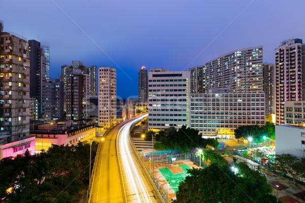 Traffic highway in Hong Kong at night  Stock photo © leungchopan