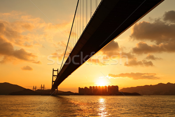 tsing ma bridge in sunset Stock photo © leungchopan