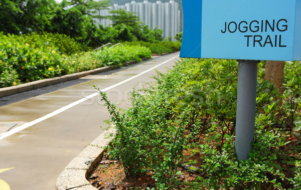 jogging trail Stock photo © leungchopan
