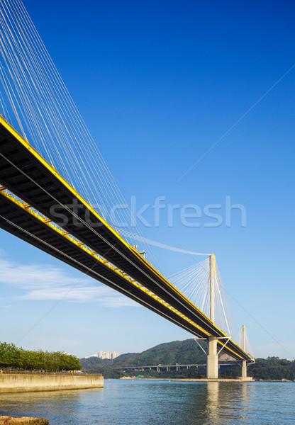 Puente colgante Hong Kong carretera edificio calle puente Foto stock © leungchopan