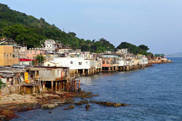 village of Lei Yue Mun in Hong Kong Stock photo © leungchopan