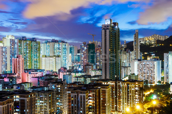 Kowloon downtown in Hong Kong Stock photo © leungchopan