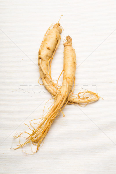 Vers ginseng textuur voedsel witte asia Stockfoto © leungchopan