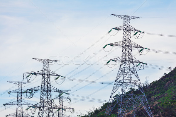 Power distribution tower Stock photo © leungchopan