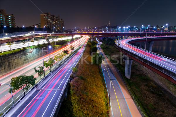 Seoul highway at night Stock photo © leungchopan