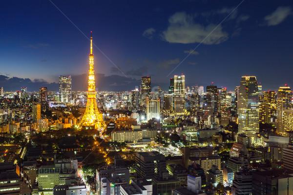 Tokio negocios oficina ciudad televisión Foto stock © leungchopan