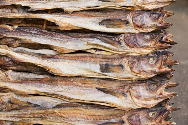 Stock photo: Dry salty fish
