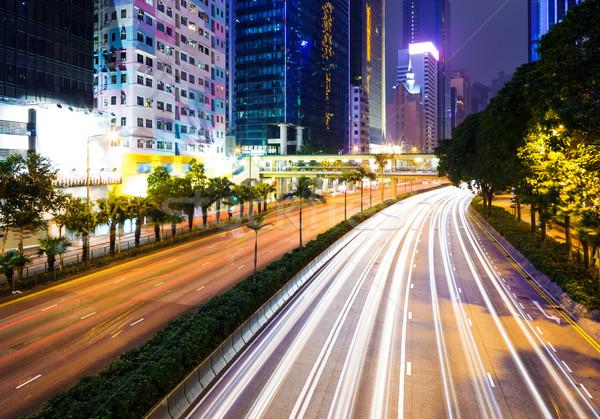 Traffic trail in Hong Kong Stock photo © leungchopan