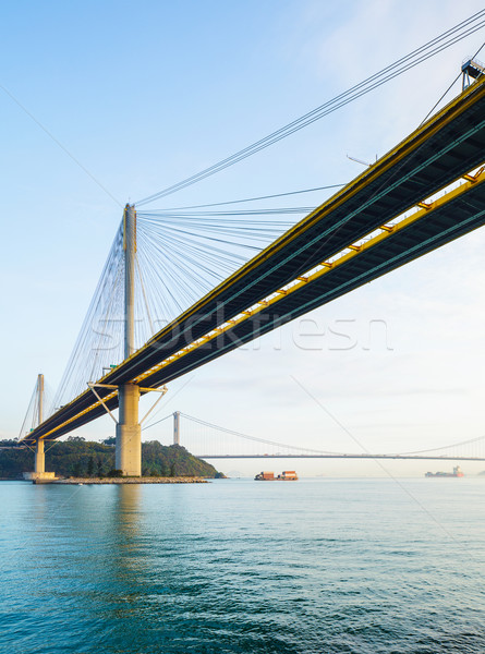 Suspension bridge in Hong Kong  Stock photo © leungchopan