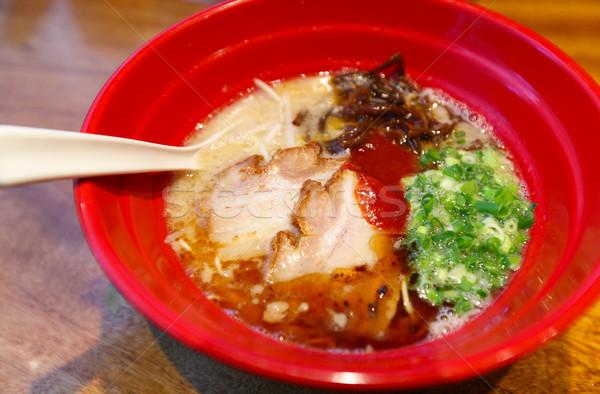 Japán ramen tészta hús kínai kanál Stock fotó © leungchopan