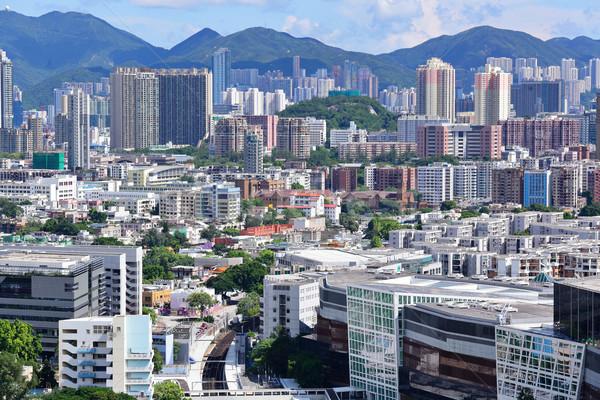 downtown of Hong Kong city Stock photo © leungchopan
