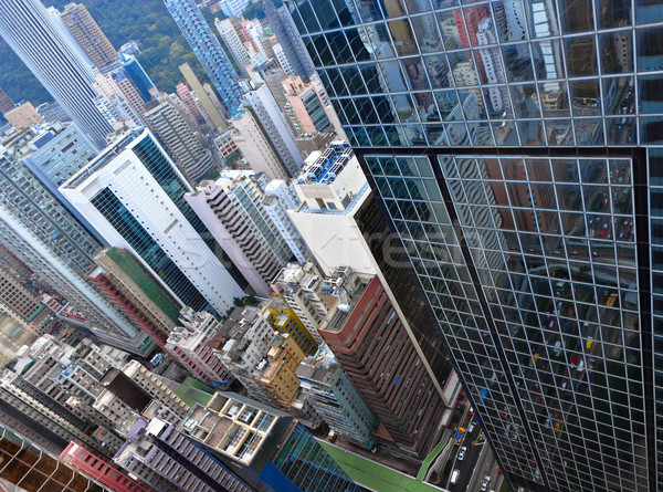 Hong Kong crowded buildings Stock photo © leungchopan