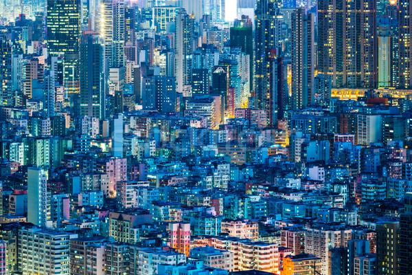 Downtown cityscape in Hong Kong Stock photo © leungchopan