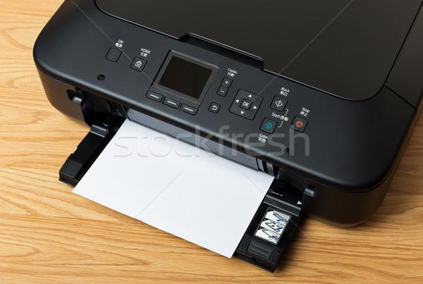 Domestic printer and paper Stock photo © leungchopan