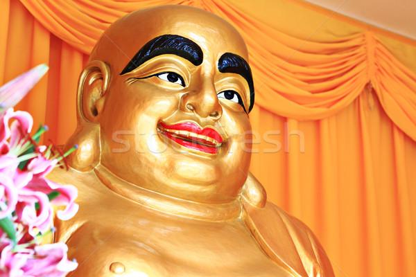 Arany Buddha szem nevetés kövér Isten Stock fotó © leungchopan