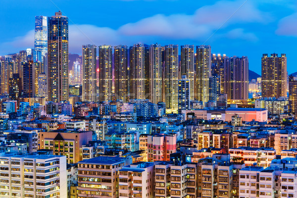 Kowloon district at night Stock photo © leungchopan