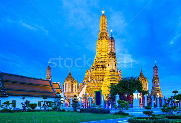 Bangkok nacht skyline aanbidden architectuur asia Stockfoto © leungchopan