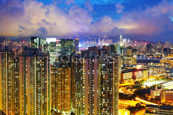 Housing in Hong Kong at night Stock photo © leungchopan