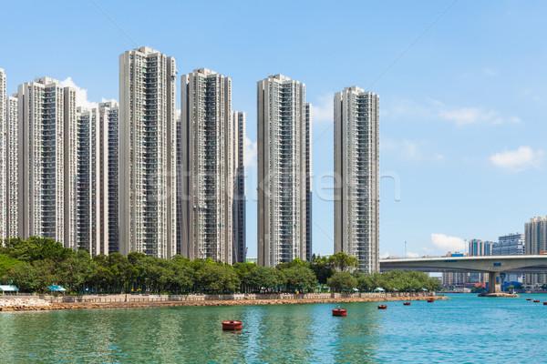 Residential area in Hong Kong Stock photo © leungchopan