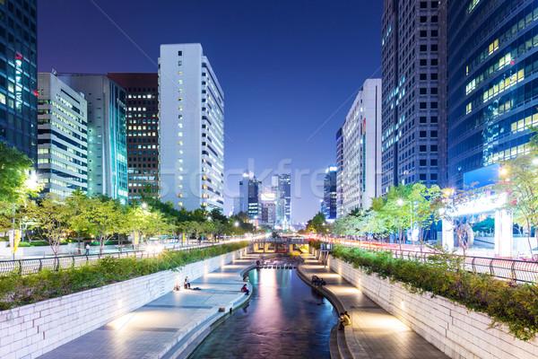 Seoul città skyline corporate architettura asian Foto d'archivio © leungchopan