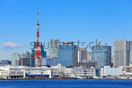 Tóquio cidade céu escritório água oceano Foto stock © leungchopan