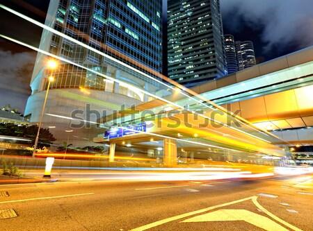 движения центра здании аннотация улице ночь Сток-фото © leungchopan