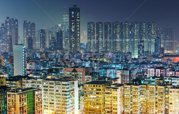 Packed apartment in Hong Kong Stock photo © leungchopan