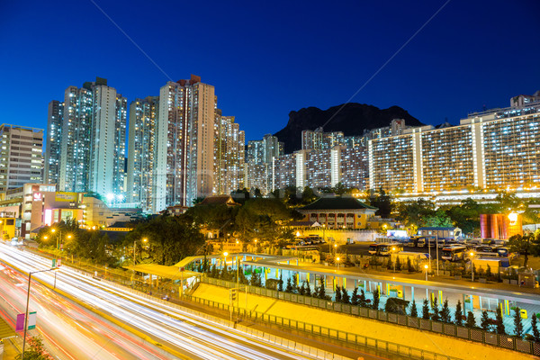 Hongkong obudowa krajobraz lew rock domu Zdjęcia stock © leungchopan