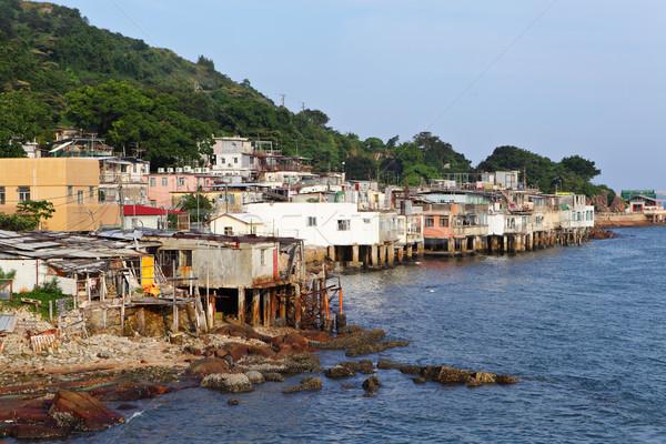 fishing village of Lei Yue Mun in Hong Kong Stock photo © leungchopan
