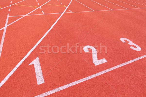 Zdjęcia stock: Sportu · uruchomiony · utwór · tle · dziedzinie · wykonywania